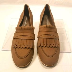 Franco Fortini tan loafers size 8